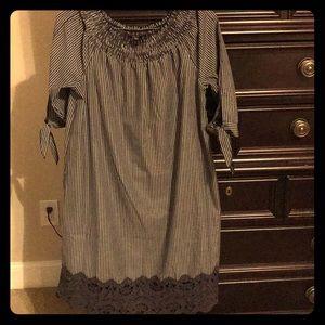 Striped medium dress